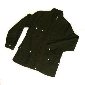 FRENCH CONNECTION Black Cotton Military Jacket